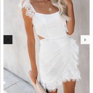 Cotton Embroidered Crochet Dress